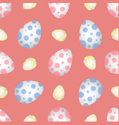 easter eggs in polka dots vector image