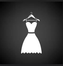 Elegant dress on shoulders icon vector