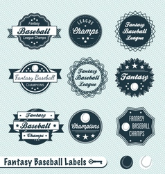 Fantasy Baseball Labels vector image