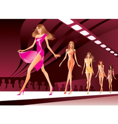 Fashion models on review vector