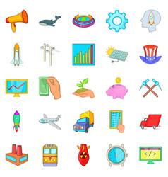 Fee icons set cartoon style vector
