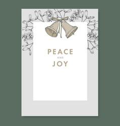 Festive christmas decorative vintage greeting card vector