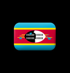 Flag eswatini matted icon and button vector