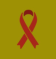 Flat icon on stylish background gay hiv ribbon vector