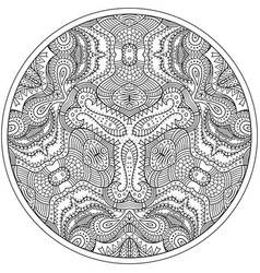 floral ethnic outline hand drawn mandala vector image