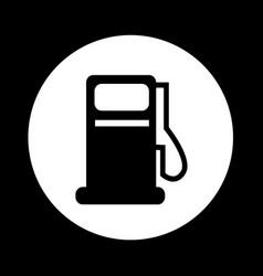 gas pump oil station icon design vector image