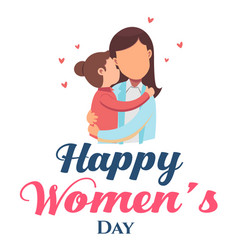 happy women day mom hold baby white background v vector image