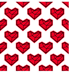 Heart seamless pattern for valentines day vector