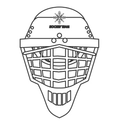 Hockey helmet icon vector
