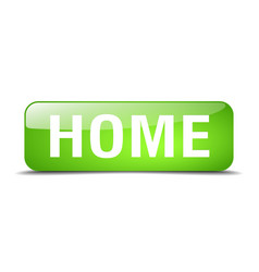 Home green square 3d realistic isolated web button vector