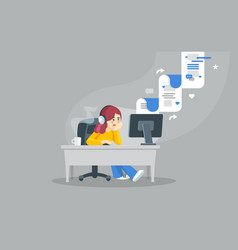Internet surfing concept flat vector