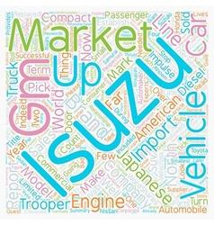 Isuzu Corporate Overview text background wordcloud vector image