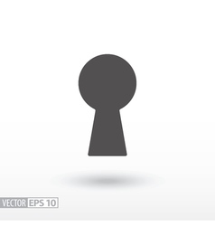 Keyhole - flat icon vector