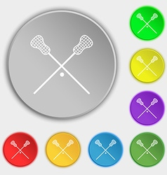Lacrosse Sticks crossed icon sign Symbol on eight vector