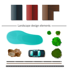 Landscape design elements vector image