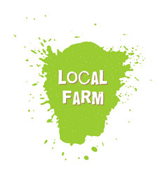 local farm fresh vegan eco bio raw organic vector image