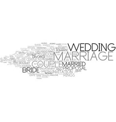 Marriage word cloud concept vector