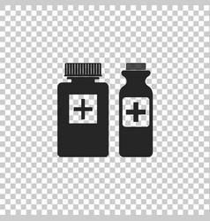 medical bottles icon on transparent background vector image