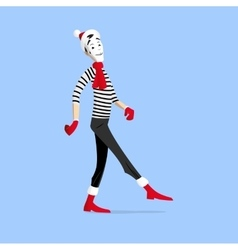 Mime performance - walking vector image