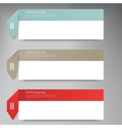 Modern business origami style options banner vector