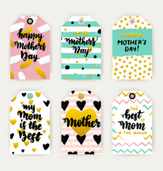 mothers day trendy gift labels vector image