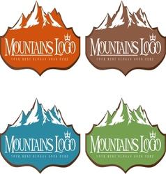 mountain design creative vector image