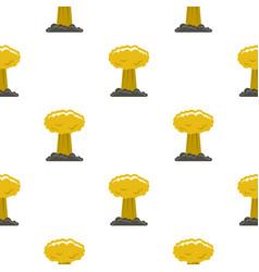 Mushroom cloud pattern seamless vector