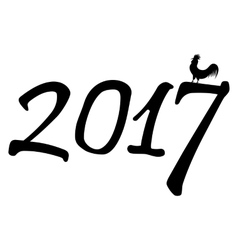 new for 2017 year cock vector image