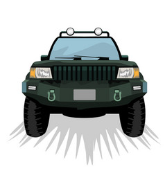 Offroad suv car with front view template for vector