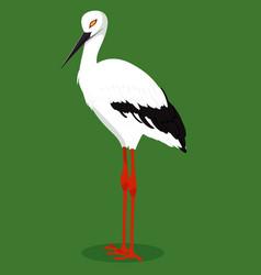 Oriental stork cartoon bird vector