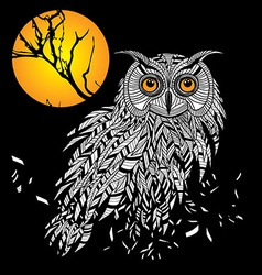 Owl bird head as halloween symbol for mascot or em vector image