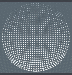 Pattern grey and white triangle halftone circle vector