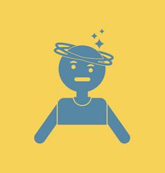 People dizzy vector