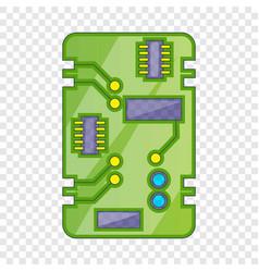 Phone circuit board icon cartoon style vector