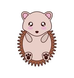 Porcupine kawaii cute animal icon vector