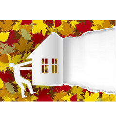 real estate autumn offer vector image