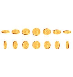 Realistic gold coins golden shiny cash coin vector