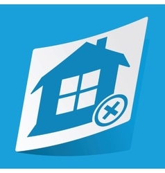 Remove house sticker vector