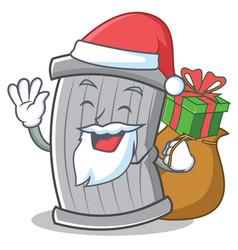 santa trash character cartoon style vector image