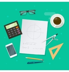 School lesson study concept education geometry vector