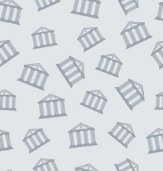 Seamless Pattern with Building of Bank vector image
