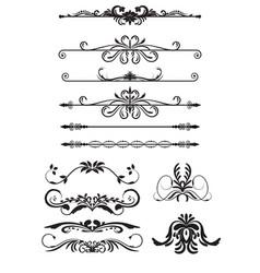 Set vintage decorations elements vector