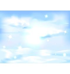 snowy winter landscape background - horizontal vector image