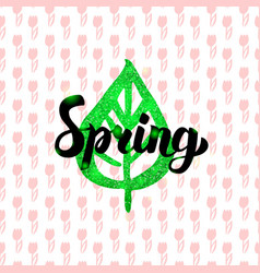 Spring handwritten card vector