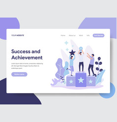 Success and achievement vector