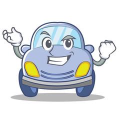 Successful cute car character cartoon vector