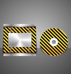 Technology CD cover design vector