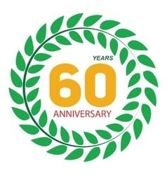Template Logo 60 Anniversary in Laurel Wreath vector