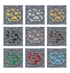 Texture for platformers pixel art stone vector