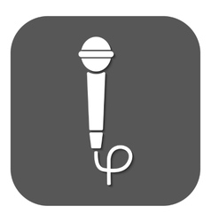 The microphone icon Sound symbol Flat vector image